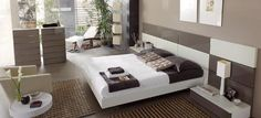 dormitorio de lujo moderno - Buscar con Google Home Bedroom, Bedroom Furniture, Interior Decorating, Interior Design, Interior Architecture, Sweet Home, Home Decor, Modern Beds, Platform Beds