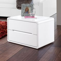 Monza bedside table white