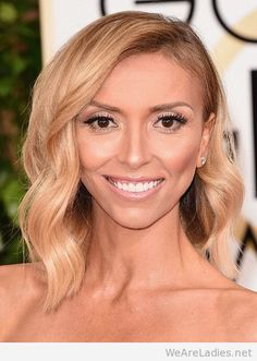 Giuliana Rancic's Soft Waves and Bronze Lids
