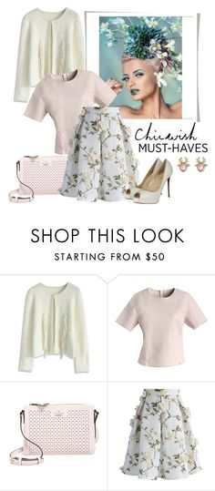 """""""CHICWISH"""" by fantasiegirl ❤ liked on Polyvore featuring Chicwish, Kate Spade and Christian Louboutin"""