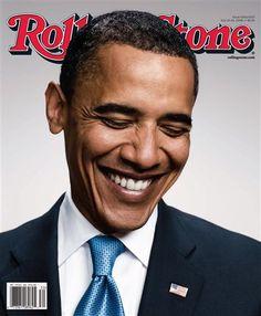 Barack Obama on cover of Rolling Stones magazine.
