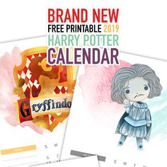 Brand New Free Printable 2019 Harry Potter Calendar is waiting for you to print! Mix and match with our other HP Calendars to make the perfect Calendar 4 u! Christmas Planner Free, Christmas Tag, Christmas Projects, Art Calendar, 2019 Calendar, Free Printable Calendar, Free Printables, Harry Potter Calendar, Harry Potter Christmas
