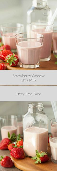 A creamy and dairy-free strawberry milk that's full of real strawberries. When's the last time you had a glass of strawberry milk? I'd guess, probably not since you were a kid. I certainly drank m…