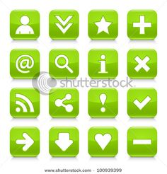 Look more my images http://www.shutterstock.com/gallery-498844.html — 16 glossy green button with basic sign. Rounded square shape internet web icon with black shadow and reflection on white background. This vector illustration design elements saved 8 eps — #Royalty #free #stock #photo #illustration for $0.28 per download http://submit.shutterstock.com/?ref=498844