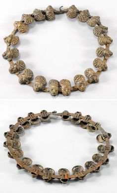 Africa | Prestige collar necklace from the Foumban or Bamoun people of the Cameroon Grasslands | Brass and iron | CHF 671 ~ Sold