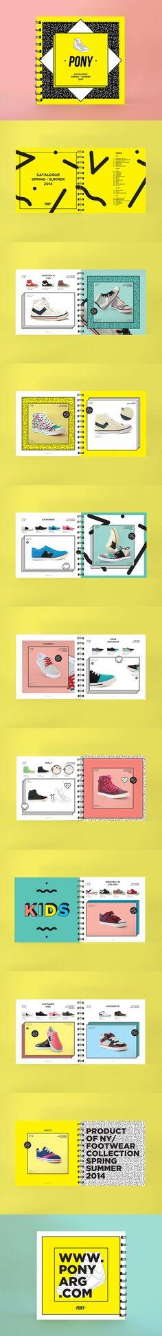 Catalogue format carré très graphique
