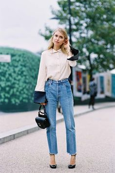 50 Chic Street Style Outfits to Last You All Year Long - Amazing Gardrops Street Style Looks, Looks Style, Style Me, Trendy Style, Style Blog, London Fashion Weeks, Milan Fashion, Mode Chic, Mode Style