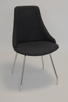 Glamour S - Side Chair - Base No. 5 - Shaped Steel Legs