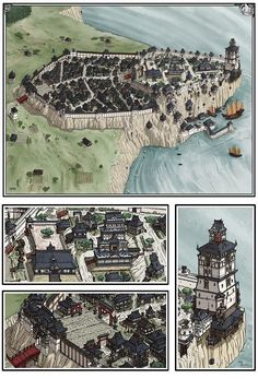 dungeons and dragons maps Fantasy City Map, Fantasy World Map, Fantasy Town, Fantasy Castle, Fantasy Places, Medieval Fantasy, Level Design, Rpg Map, Fantasy Concept Art