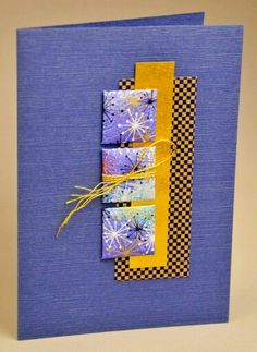 handmade card ... Japanese papers ... Japanese padded paper quilt technique with washi  on inchies ... luv the texture of the background paper ...