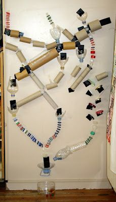 Ball Run/Marble Roll built with recycled materials - for Little Scientists