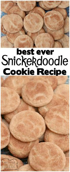 Classic Snickerdoodle cookies recipe for the best Snickerdoodles ever! Soft & chewy with great cinnamon sugar flavor and that traditional snickerdoodle texture. #Snickerdoodle #cookie #recipe #cinnamon #baking #cookies from BUTTER WITH A SIDE OF BREAD