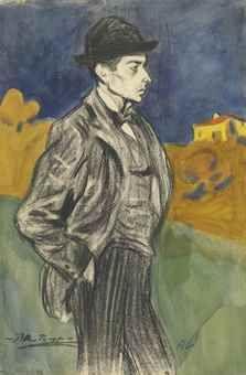 Pablo Picasso, Portrait de Lluis Alemany, 1899-1900 (Christie's, London)
