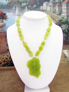 Jade Necklace with Pendant  - J14 by daksdesigns on Etsy