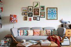 Un mini apartamento bohemio, vintage y lleno de color