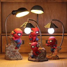 Super Spiderman Avengers Union 3 Led Night Light Resin Craft Kid's Home Desktop Table Lamp Figurines Birthday Xmas Wedding Gifts Christmas Gifts For Kids, Kids Gifts, Christmas Birthday, Figurine Avengers, Spiderman, Marvel Kids, Marvel Heroes, Diy And Crafts, Crafts For Kids