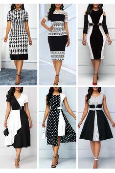 Women S Fashion Queen Street Referral: 1880228765 Office Dresses For Women, Elegant Dresses For Women, Pretty Dresses, Classy Work Outfits, Classy Dress, Latest African Fashion Dresses, Women's Fashion Dresses, Stylish Dress Designs, Moda Fashion