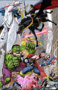 The Avengers vs The Defenders •John Byrne