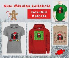 A süni is felvette a téli ünnepi szerkóját. Mikulásnak öltözött. Viselj vagy adj ajándékba Télapó sünis mintájú pólót, pulcsit vagy bögrét. :-) T-shirt design T Shirt Designs, Christmas Sweaters, Graphic Sweatshirt, Sweatshirts, Fashion, Moda, Fashion Styles, Christmas Jumper Dress, Trainers