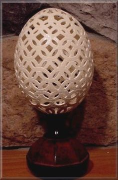 Carved Ostrich Eggs