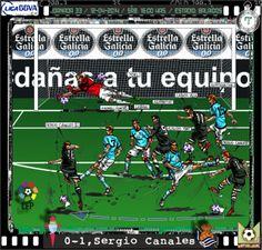 RC Celta de Vigo, 2 - Real Sociedad, 2 - Sergio Canales, 0-1, min. 7'