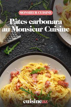 Les pâtes carbonara au Monsieur Cuisine sont un incontournable des plats de pâtes.  #recette#cuisine#carbo#carbonara #pates #robotculinaire #MonsieurCuisine