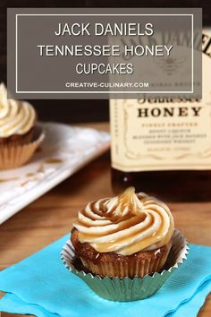 Whiskey Cupcakes, Honey Cupcakes, Gourmet Cupcakes, Cupcake Flavors, Cupcake Recipes, Fun Cupcakes, Dessert Recipes, Jack Daniels Cupcakes, Desserts