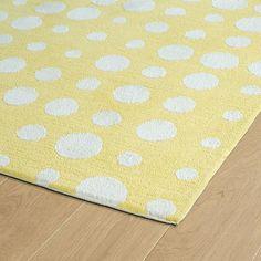 Plush Polka Dot Rug yellow_ivory