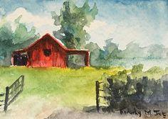 Red Barn Entrance by, Timothy M. Joe