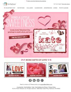 Valentine's Day Email- Love the paper elements.