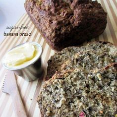 Sugar-free Banana Bread Recipe - an easy healthy recipe the whole family will love. Packed with protein, these are a great breakfast alternative or lunch box idea! Instant Oatmeal Cookies, Oatmeal Breakfast Cookies, Breakfast Cookie Recipe, Sugar Free Banana Bread, Homemade Banana Bread, Banana Bread Recipes, Sugar Free Recipes, No Bake Desserts, Easy Healthy Recipes