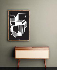 Pôster Cubos - Design: Estúdio Iludi - Studio Ar.Co -  #frame #quadro #decoração #decor #inspiration #inspiracao #design