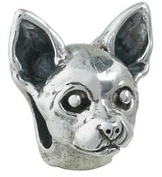 Chihuahua Bead 69 95 Call To Order 925 Sterling Silver Compatible With Trollbeads Pandora And Chamilia Bracelets Hand Crafted In The Usa Will Ship
