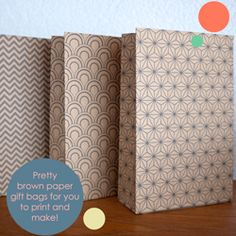 I created a set of four free customisable templates for you to download and make your own pretty patterned gift bags!