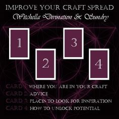A tarot card spread to help you find ways to improve your craft! Oracle Cards Divination Layout