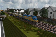 [Minecraft] Via Rail Train by Yazur on deviantART