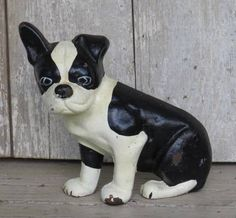 Cast Iron Metal Pit Bull Boston Terrier Boxer Dog Puppy Doorstop Door Stop ~NR