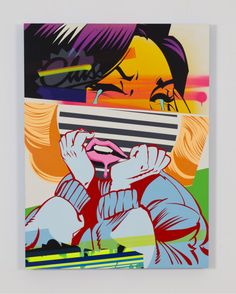 supersonicart:   POSE, Paintings. Paintings by Chicago based...