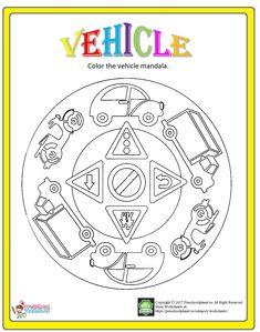 vehicle mandala coloring