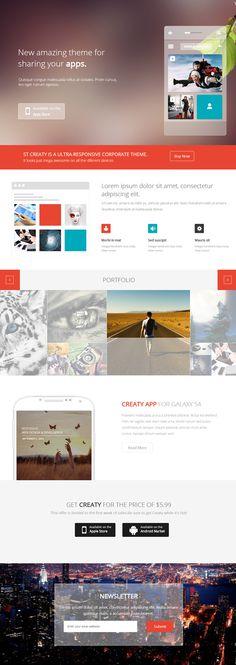 minimal, clean, layout, concept, joomla