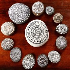 Paint the stones and rocks.