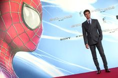 Andrew Garfield at The Amazing Spider-Man 2 premiere in Berlin.