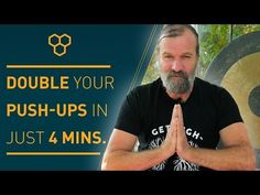 The power of the breath by Wim Hof - double your pushups without breathing 30 Day Push Up, Wim Hof, Belly Fat Workout For Men, Push Up Form, Yoga Chants, Bodyweight Routine, Yoga Breathing, Stress And Depression, Exercises