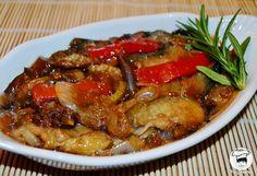 Berinjela Refogada com Cebola e Pimentão ~ Veganana