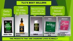 Total Life Changes Best Sellers  Detox Tea, weight loss & management, Energy, Sexual Performance Enhancement, Gourmet Coffee and much more  www.dfwtlc.com Rep/IBO ID: 3623331