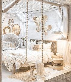 bohemian bedroom 452048881348367893 - Juba Swing – Green Design Gallery Source by fabiolaibanez Bohemian Bedrooms, Bohemian Decor, Bali Decor, Bohemian Bedroom Design, Bohemian Interior, Shabby Chic Bedrooms, Modern Bohemian, Scandinavian Interior, Dream Rooms