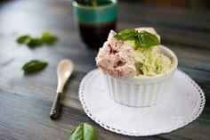 Semifreddo gelato alla fragola e basilico