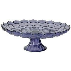 Purple Glass Cake Plate www.GlassBottomSpringformPans.com