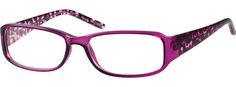 Order online, women pink full rim acetate/plastic rectangle eyeglass frames model #226817. Visit Zenni Optical today to browse our collection of glasses and sunglasses.