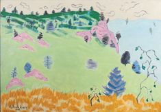 """Vermont Spring,"" Milton Avery, 1945. oil on canvas, 28 × 40"", private collection."